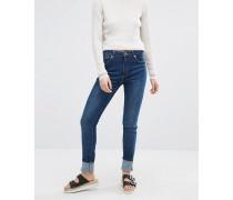 Mocki Schmale Superstretch-Jeans mit mittelhohem Bund Blau