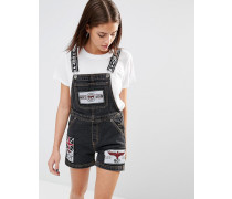 Jeans-Latzhose Grau