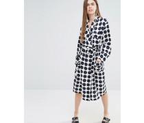 Davina Schlafanzugjacke aus Seide mit Punktmuster Mehrfarbig