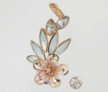 Ohrenschmuck mit Blumen-Paillettendesign Rosa