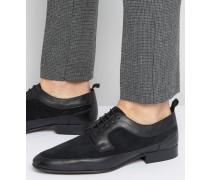 Derby-Schuhe aus schwarzem Leder und Wildleder Schwarz