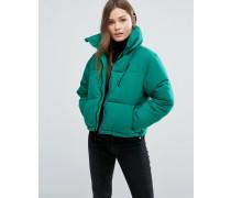 Wattierte, kastenförmige Jacke Grün