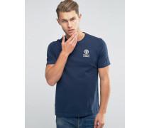 Franklin and Marshall T-Shirt mit Schriftzug und Logo Marineblau