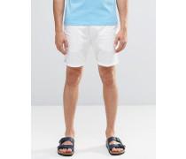 Weiße Chino-Shorts Weiß