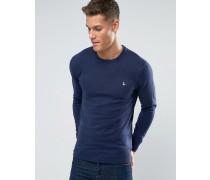 Pullover mit rundem Ausschnitt in Airforceblau Blau