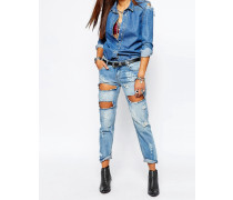 Awesome Baggies Blaue Jeans im Used-Look Blau