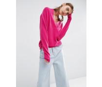 Pullover mit tiefem V-Ausschnitt aus 100% Kaschmir Rosa