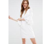 Mia Molls Kleid mit gerüschten Ärmeln Weiß