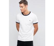 Ringer Regulär geschnittenes T-Shirt in exklusivem Weiß Weiß