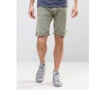 Farbige Jeans-Shorts mit geradem, regulärem Schnitt Grün