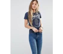 T-Shirt mit Logo und Traumfänger-Motiv Marineblau