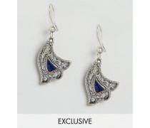 Verzierte Ohrringe mit Hasenglöckchen Silber