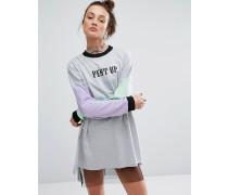 T-Shirt-Kleid mit Raglan-Ärmeln Grau
