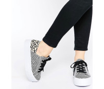 DION Flache, geschnürte Sneaker Mehrfarbig