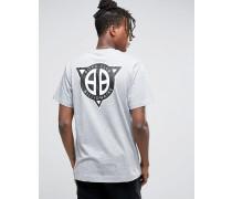 T-Shirt mit geradem Logodruck am Rücken Grau