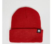 Mütze in rotem Kalk Rot