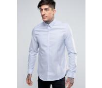 Shirt in schmaler Passform Blau