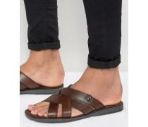Leather Sandals Braun