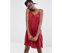 Kleid im Camisole-Stil mit Spitzenbesatz Rot