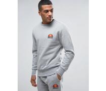 Sweatshirt mit kleinem Logo Grau