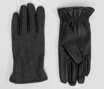 Handschuhe aus Leder Schwarz