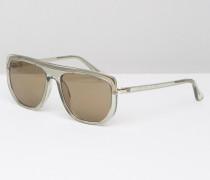 CK Platinum Visor-Sonnenbrille in Champagner Transparent