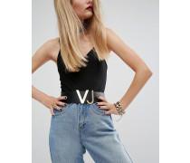 Versace Jeans Superbreiter Hüftgürtel Schwarz