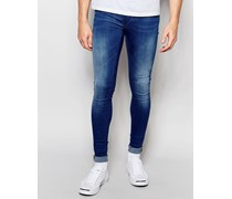 Flurry Extrem enge Skinny- Jeans in Mittelblau Blau