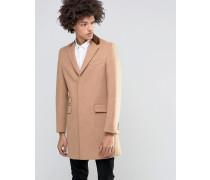 Hochwertiger Mantel aus 80% italienischer Melton-Wolle mit Samtkragen Bronze