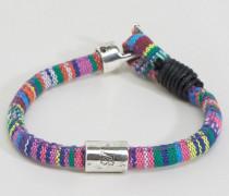 Stoffarmband mit Aztekenmuster Mehrfarbig