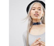 Breites Halsband mit Paisleymuster Mehrfarbig