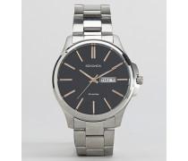 Silberfarbene Armbanduhr Silber