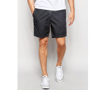 Schmale Shorts in verwaschenem Schwarz Blau