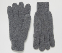 Handschuhe aus Wolle Grau