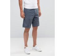 Chino-Shorts mit Adlerlogo in regulärer Passform Blau