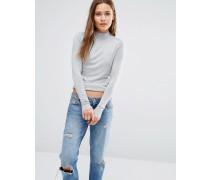 Pullover mit Stehkragen Grau
