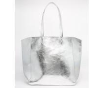Einkaufstasche in Metallic Silber