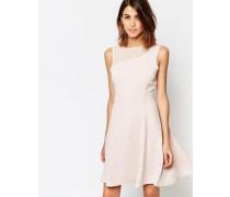 Verde Kleid mit tiefem Bund und transparentem Einsatz Rosa