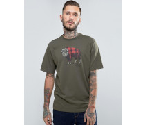 The Buffalo Kariertes T-Shirt Grün