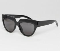 Laylow Katzenaugensonnenbrille Schwarz