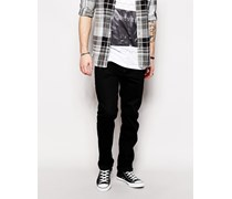 Jeans Buster 886Z Reguläre, schmale Jeans in unbehandelter, schwarzer Waschung Schwarz