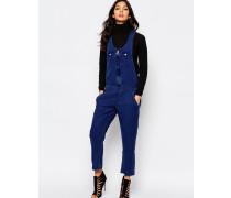 Locker geschnittener Jeansoverall Blau