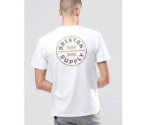 T-Shirt mit Logo auf der Rückseite Weiß