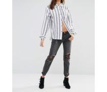 Awesome Baggies Schwarze Jeans im Used-Look Schwarz