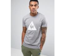 Graues T-Shirt mit großem Logo, 1711092 Grau