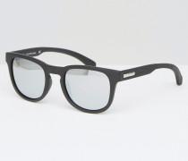 Jeans Runde Sonnenbrille in Mattschwarz Schwarz
