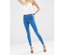 Sculpt Me Hochwertige Jeans in Daisy-Waschung mit hohem Bund Blau