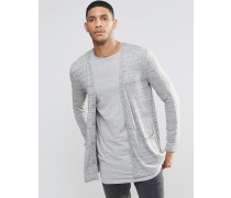 Lange Strickjacke in Grau Grau