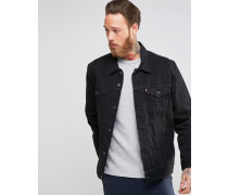 Levi's Trucker-Jacke aus schwarzem Denim Schwarz