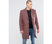Mantel aus Wollmischung in Rose Rosa